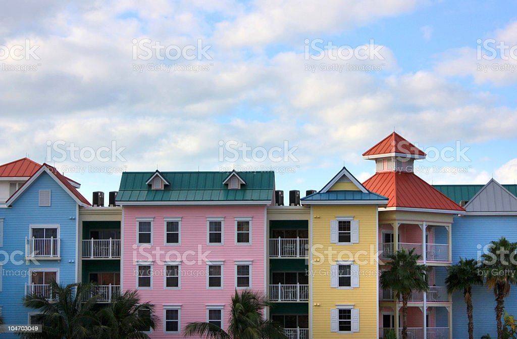 Colorful Bahamas Resort royalty-free stock photo