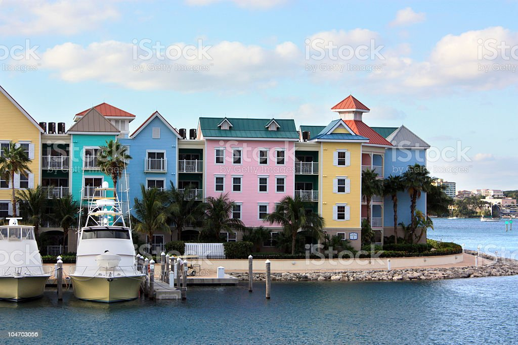 Colorful Bahamian Homes royalty-free stock photo