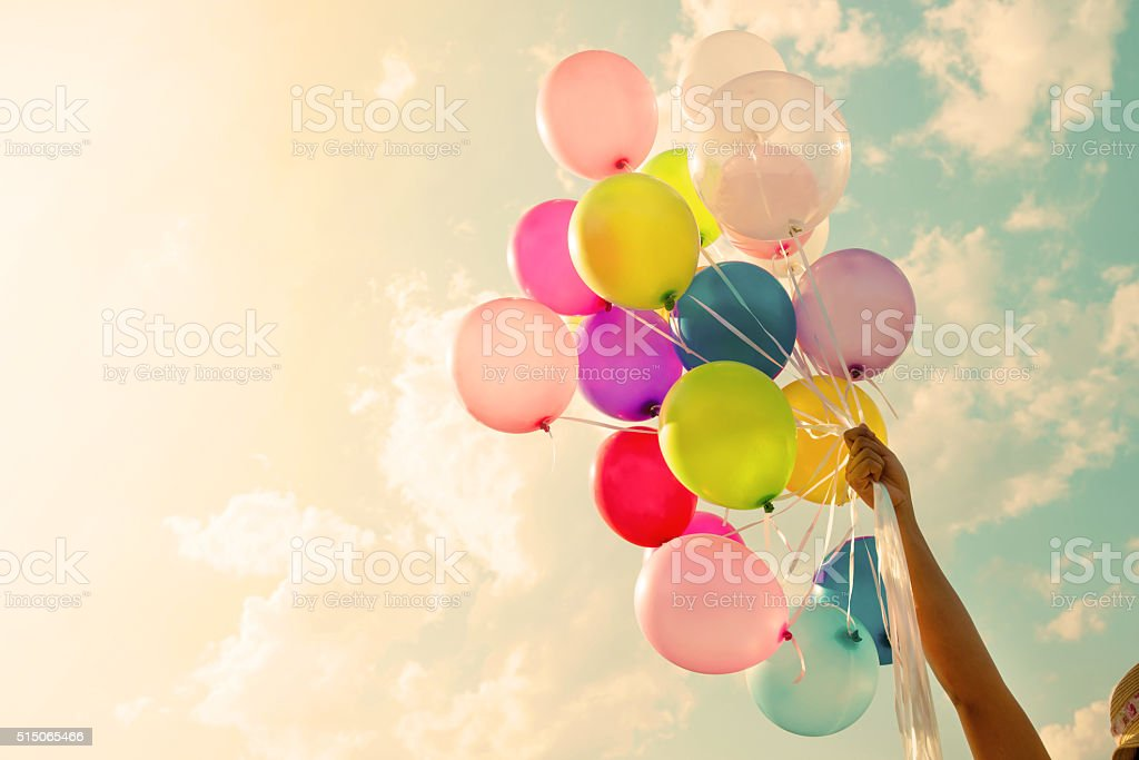 Colorful balloon stock photo