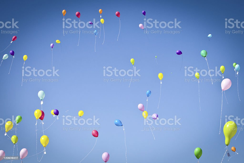 Colorful Balloons in the sky royalty-free stock photo