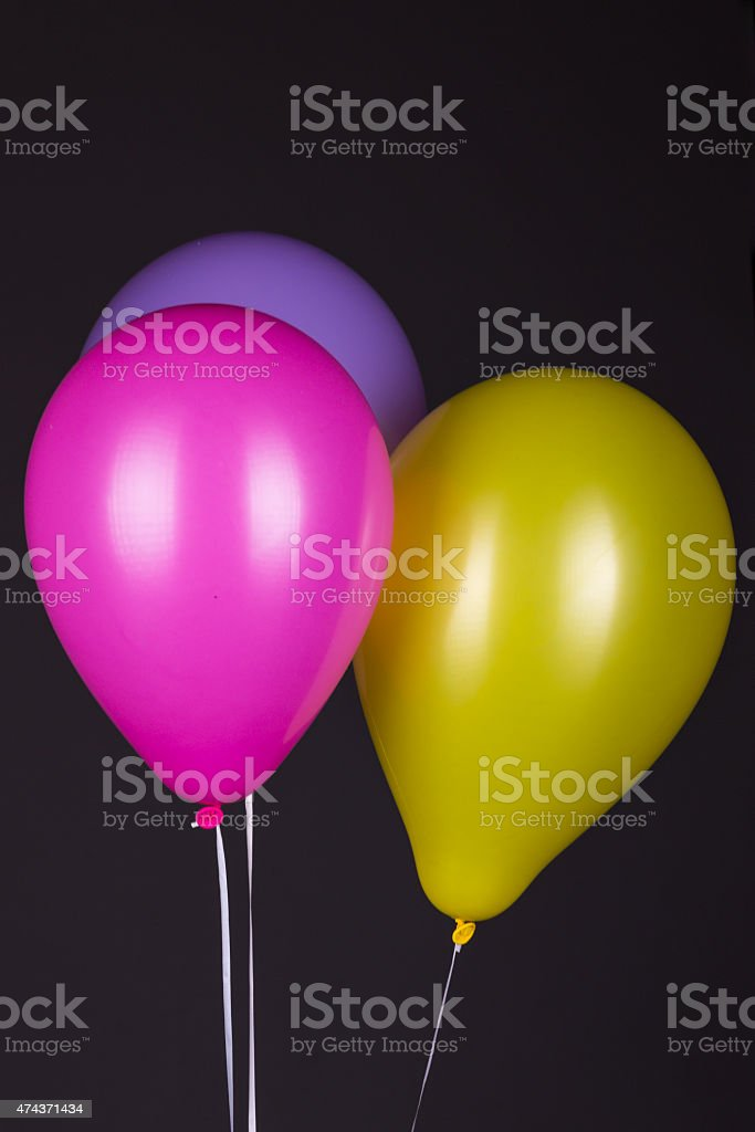 Colorful Balloons on Dark Background stock photo
