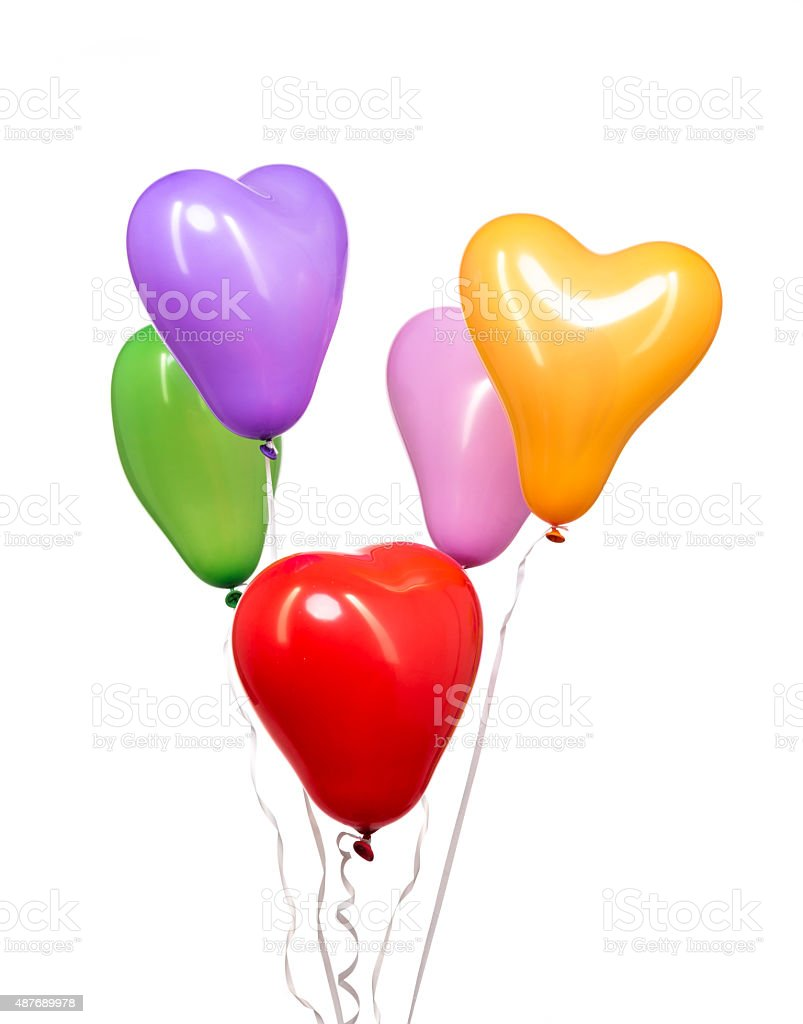 Colorful Balloons on White Background stock photo