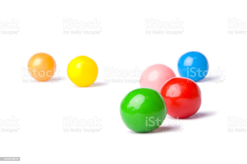 Colorful balls on a white background royalty-free stock photo