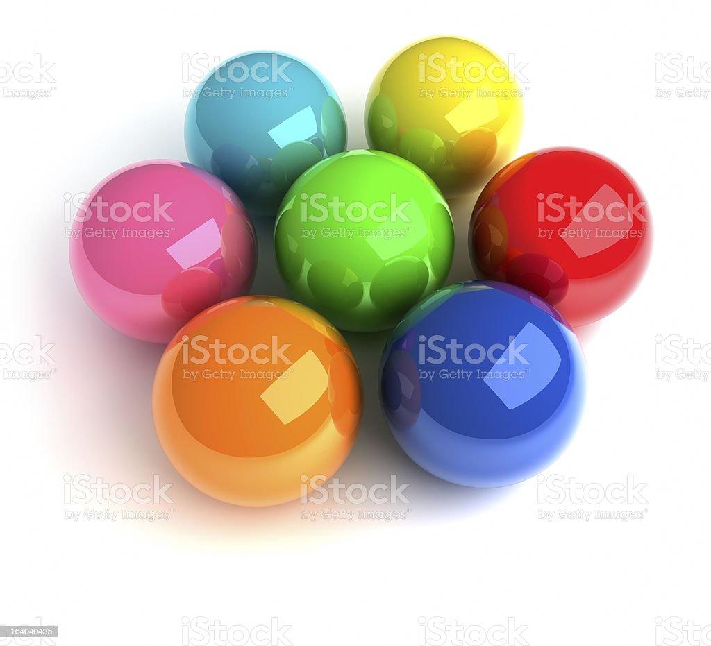 Colorful balls royalty-free stock photo