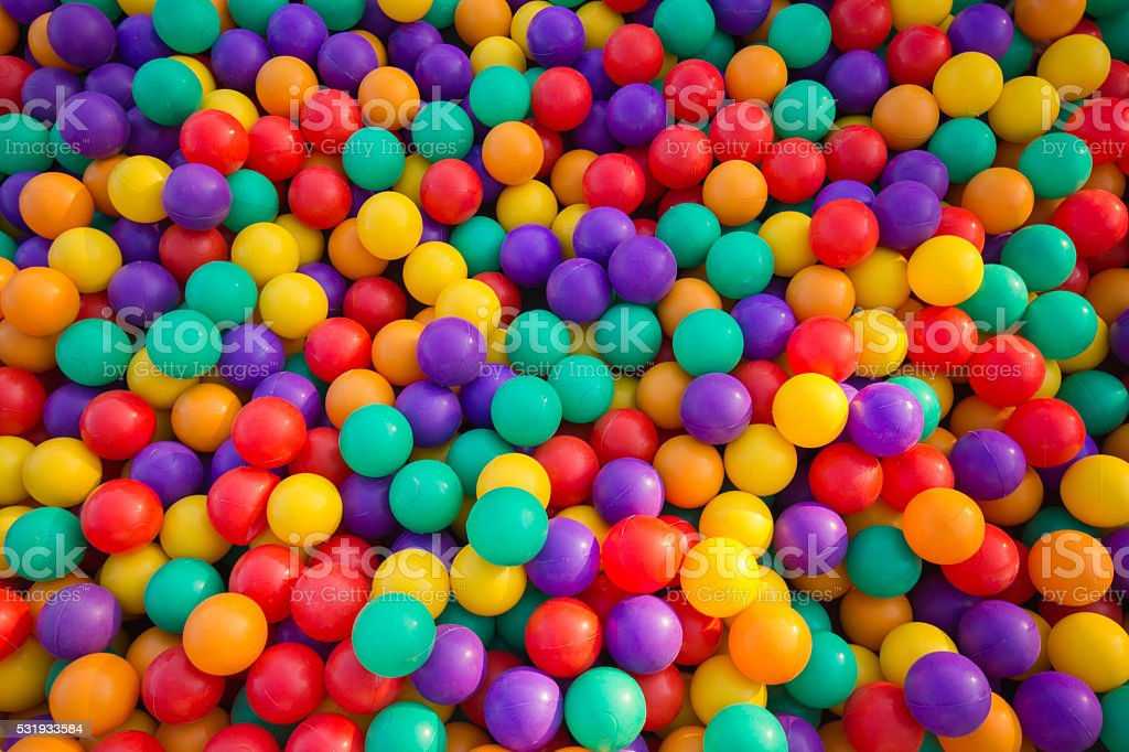 Colorful balls stock photo