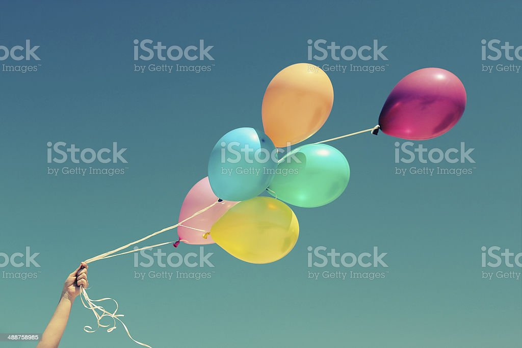 colorful baloons stock photo