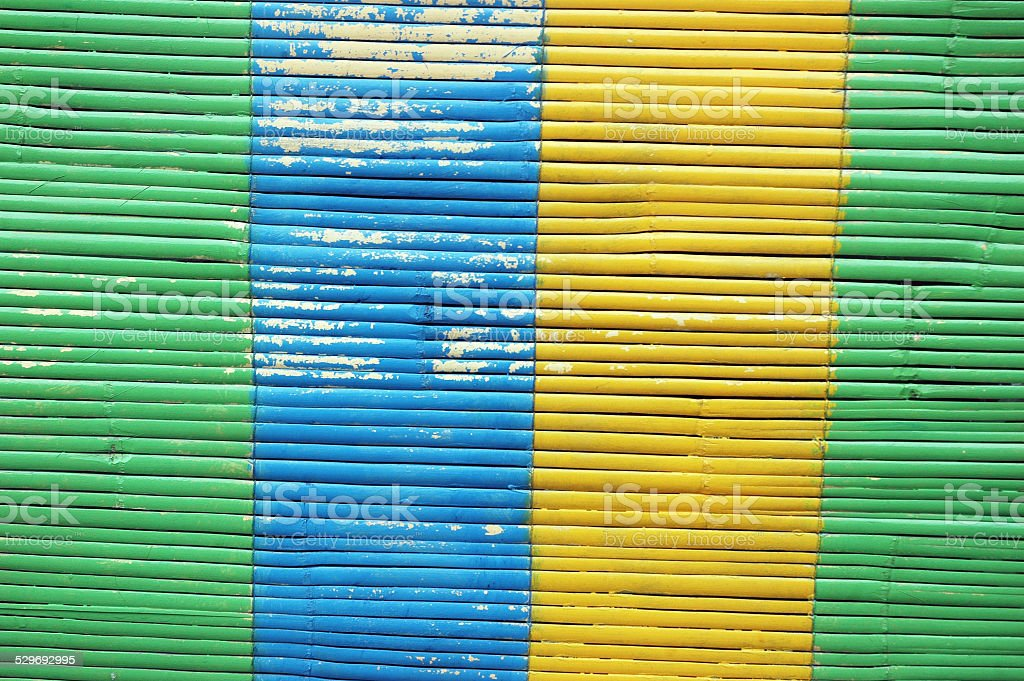 colorful bamboo curtain stock photo