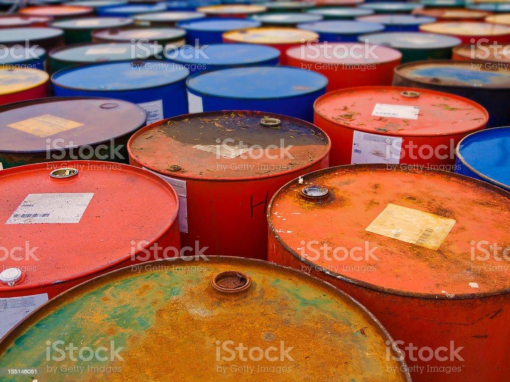 Colorful Barrels stock photo