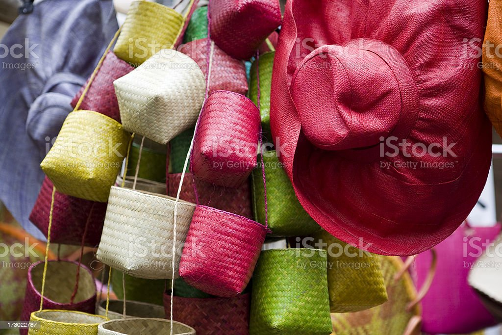 Colorful baskets royalty-free stock photo
