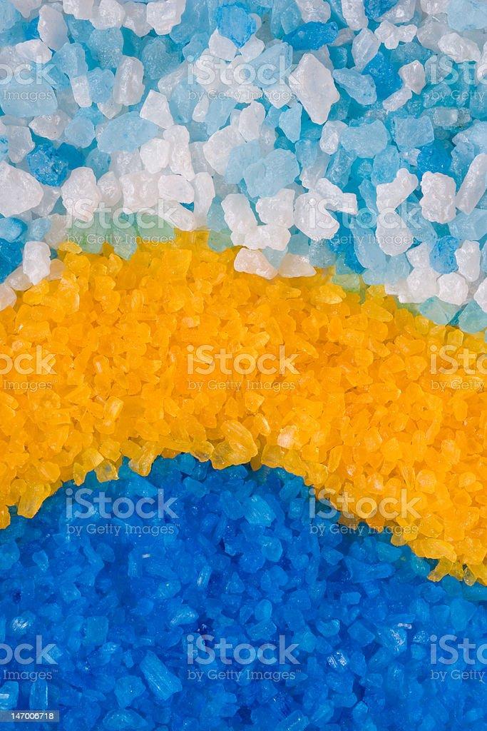 Colorful bath salt, background royalty-free stock photo