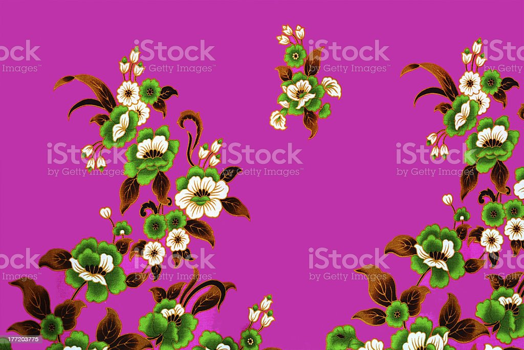 Colorful batik cloth fabric background royalty-free stock photo