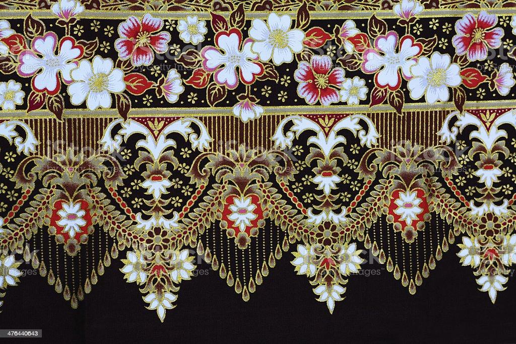 Colorful batik cloth fabric background royalty-free stock photo
