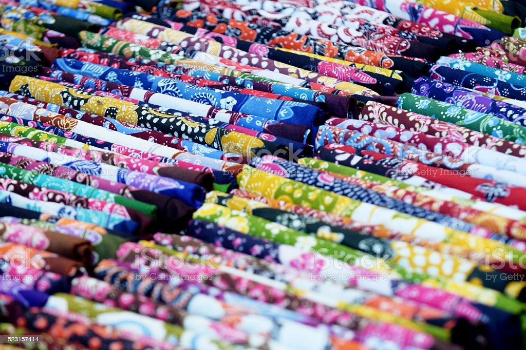 colorful batik stock photo