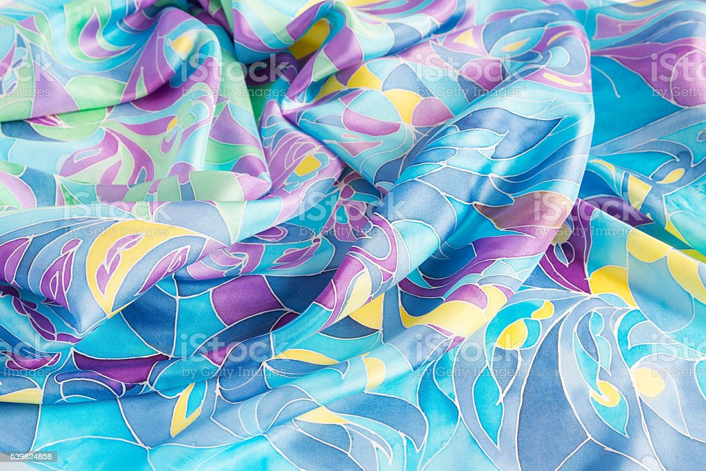 Colorful batik with abstract pattern stock photo