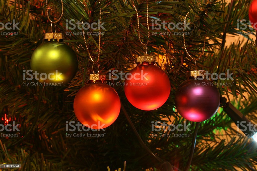 Colorful baubles stock photo