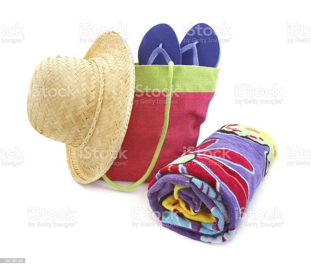 Colorful beach accessories royalty-free stock photo
