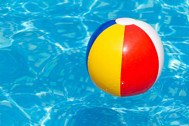Colorful Beach Ball In Swimming Pool Pictures Images And Stock