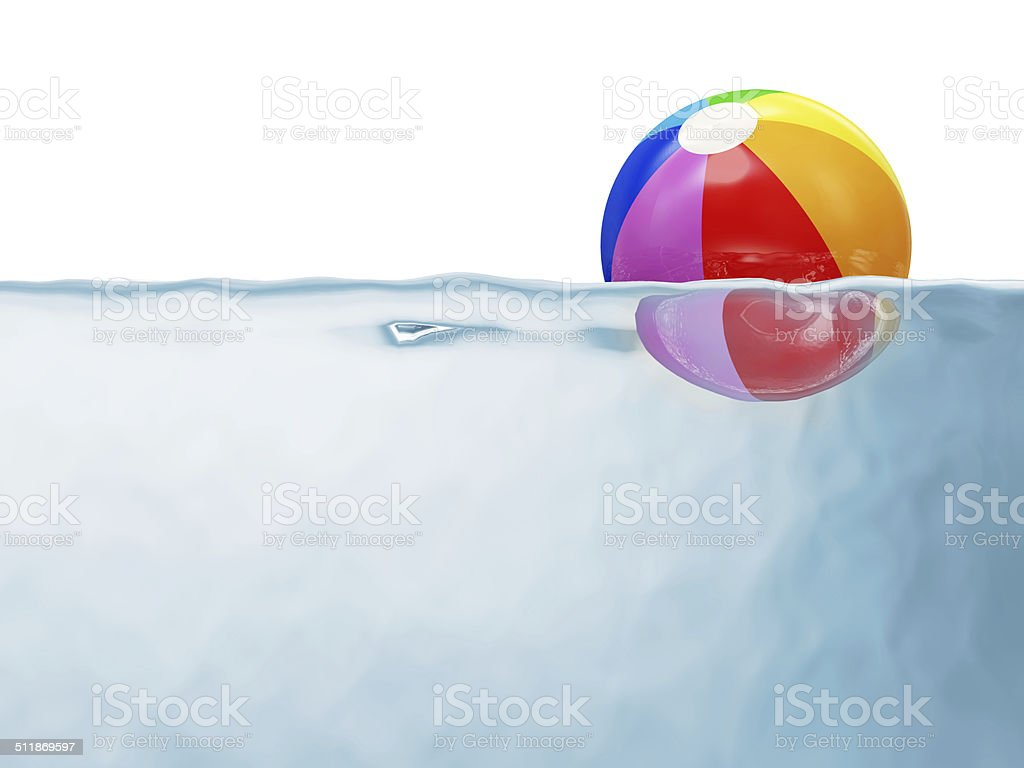 Swimming Pool Beach Ball Background colorful beach ball in swimming pool pictures, images and stock