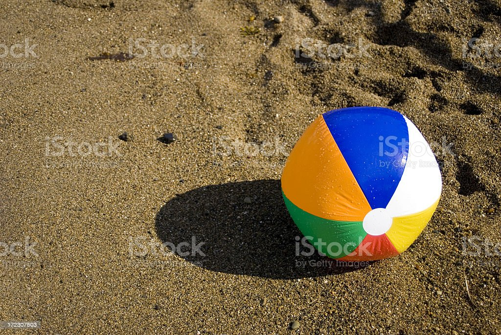 Colorful beach ball royalty-free stock photo