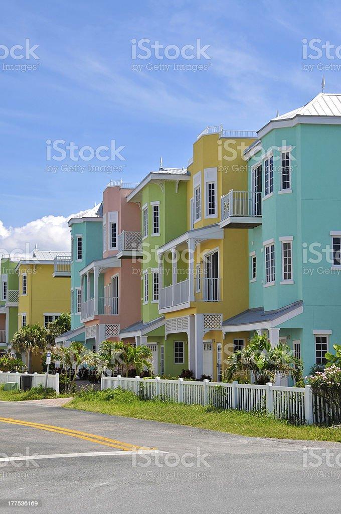Colorful Beach Condominiums royalty-free stock photo