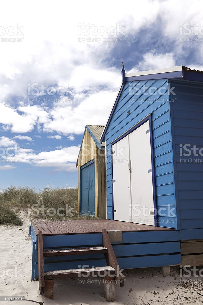 Colorful beach house royalty-free stock photo