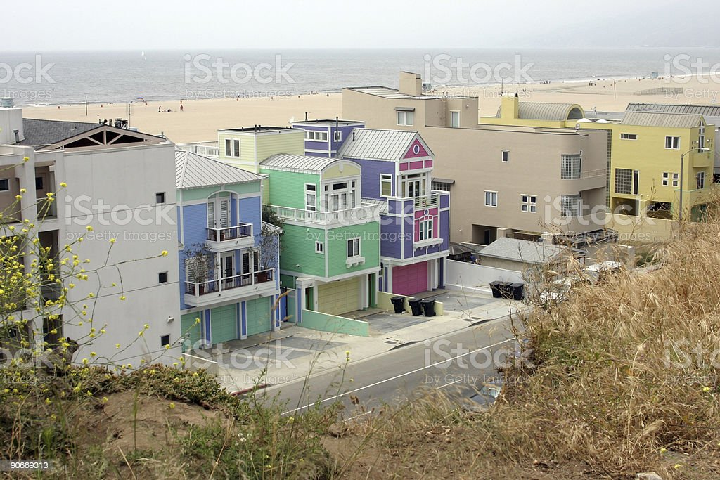 Colorful beach houses royalty-free stock photo
