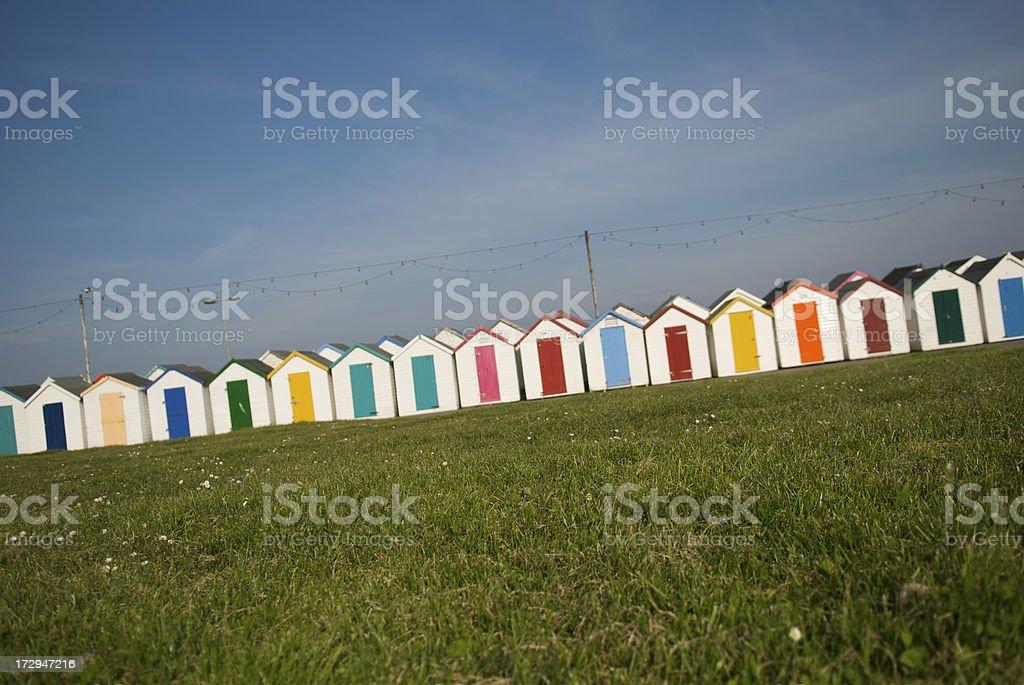 Colorful Beach Hut Tilt royalty-free stock photo