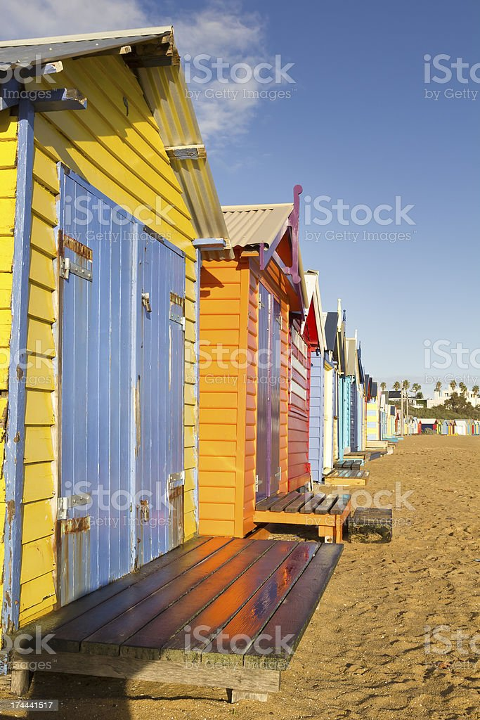Colorful beach royalty-free stock photo