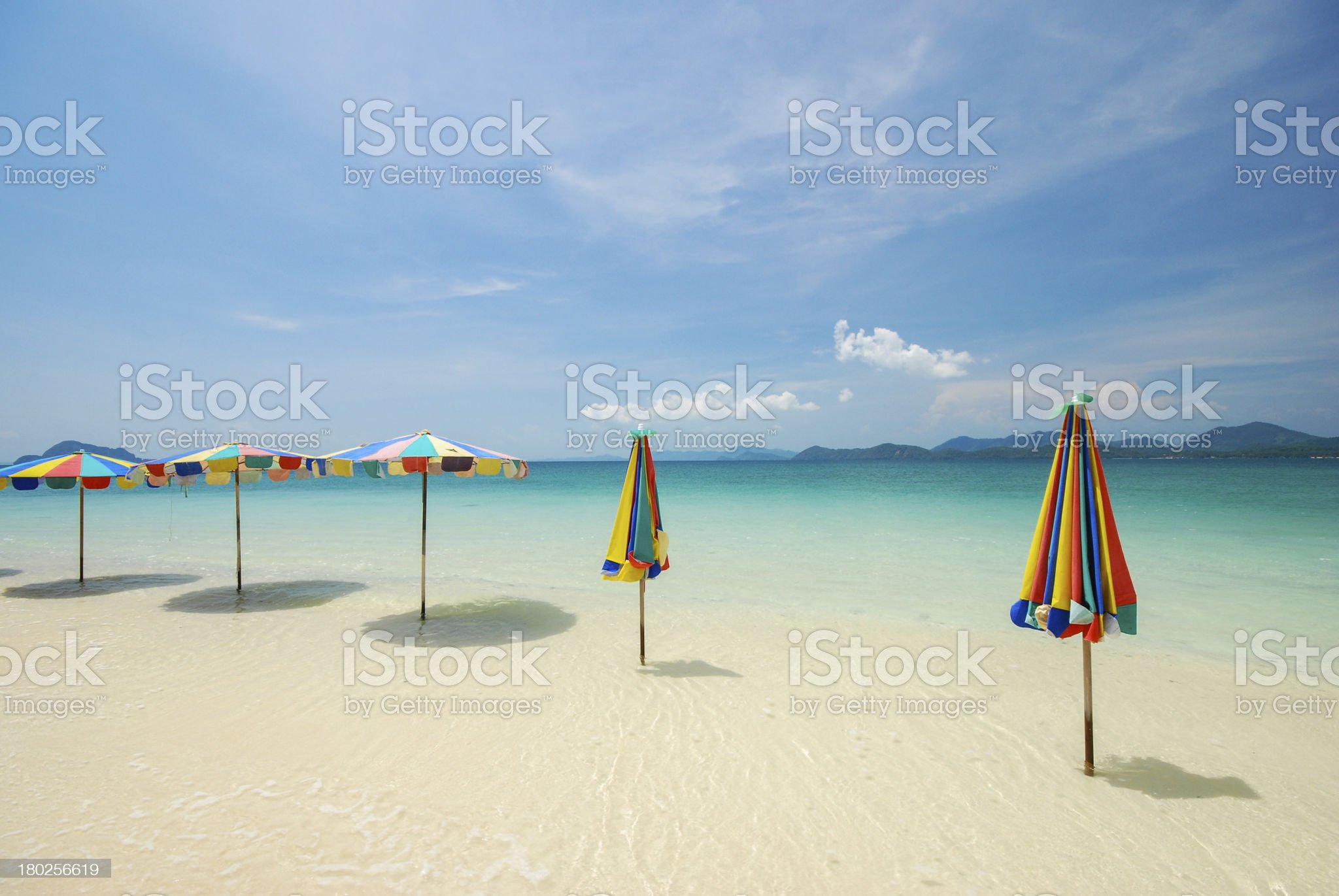 Colorful beach umbrella royalty-free stock photo