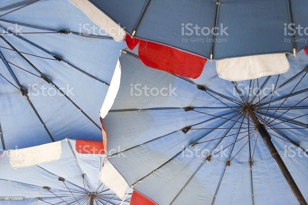 Красочный Пляжный зонт Стоковые фото Стоковая фотография