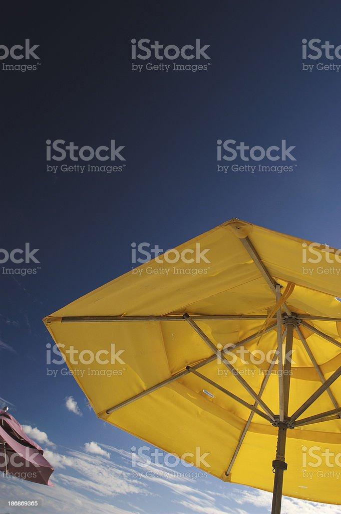 Colorful beach umbrellas royalty-free stock photo