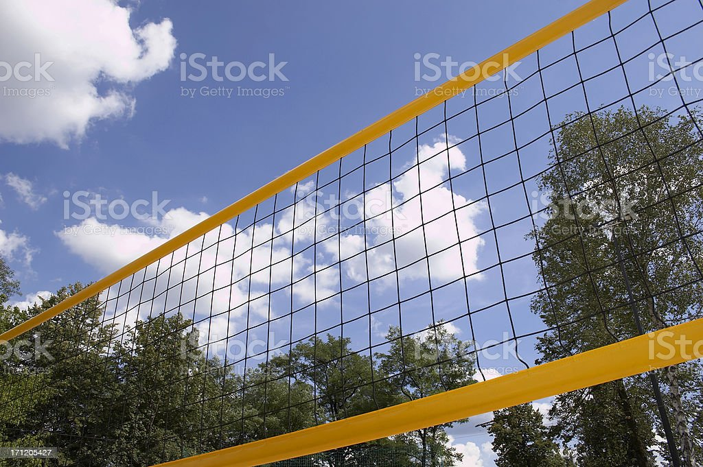 Colorful beach volley net royalty-free stock photo