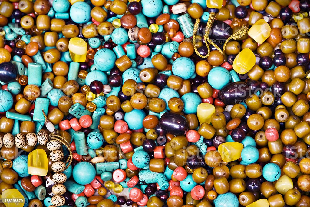 Colorful beads background royalty-free stock photo