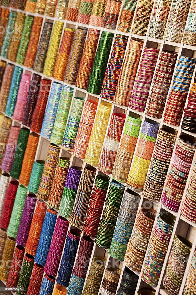 Colorful beads bangles for sale royalty-free stock photo