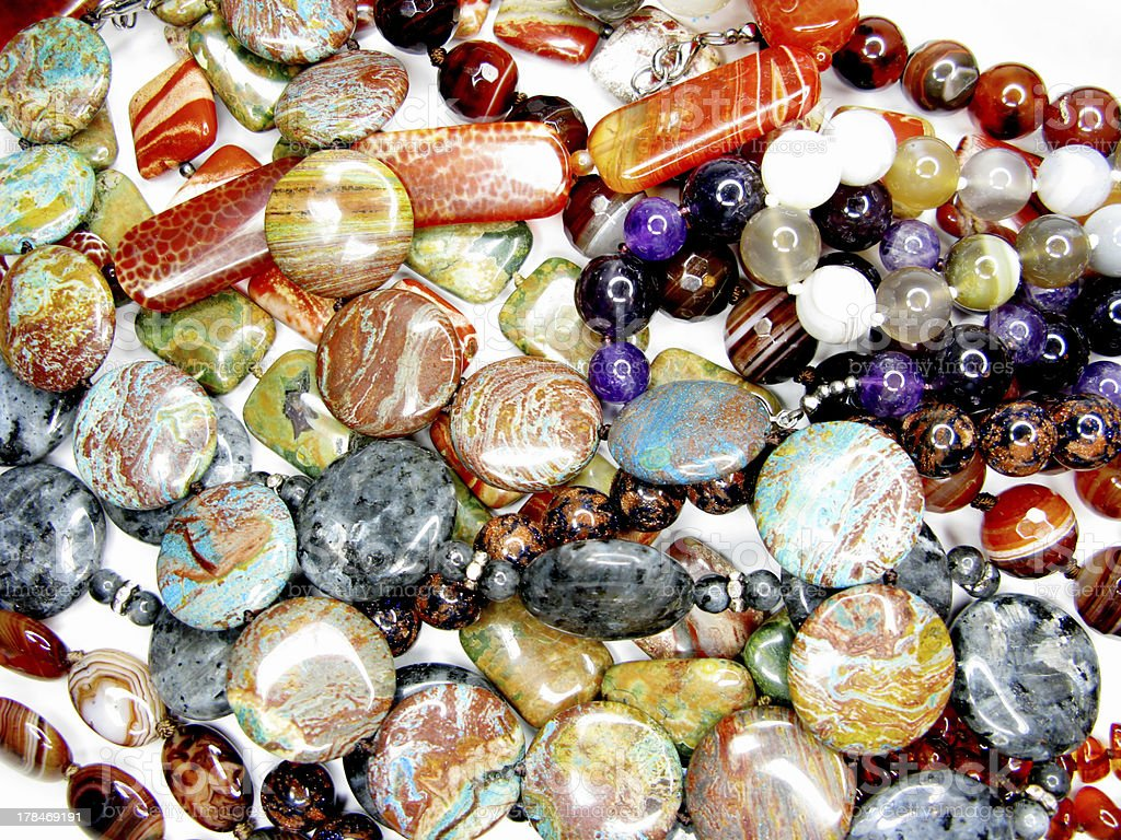 colorful beads fashion background royalty-free stock photo