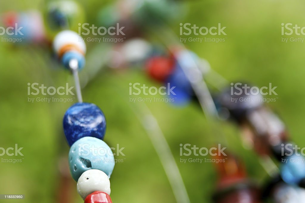 Colorful beads macro royalty-free stock photo