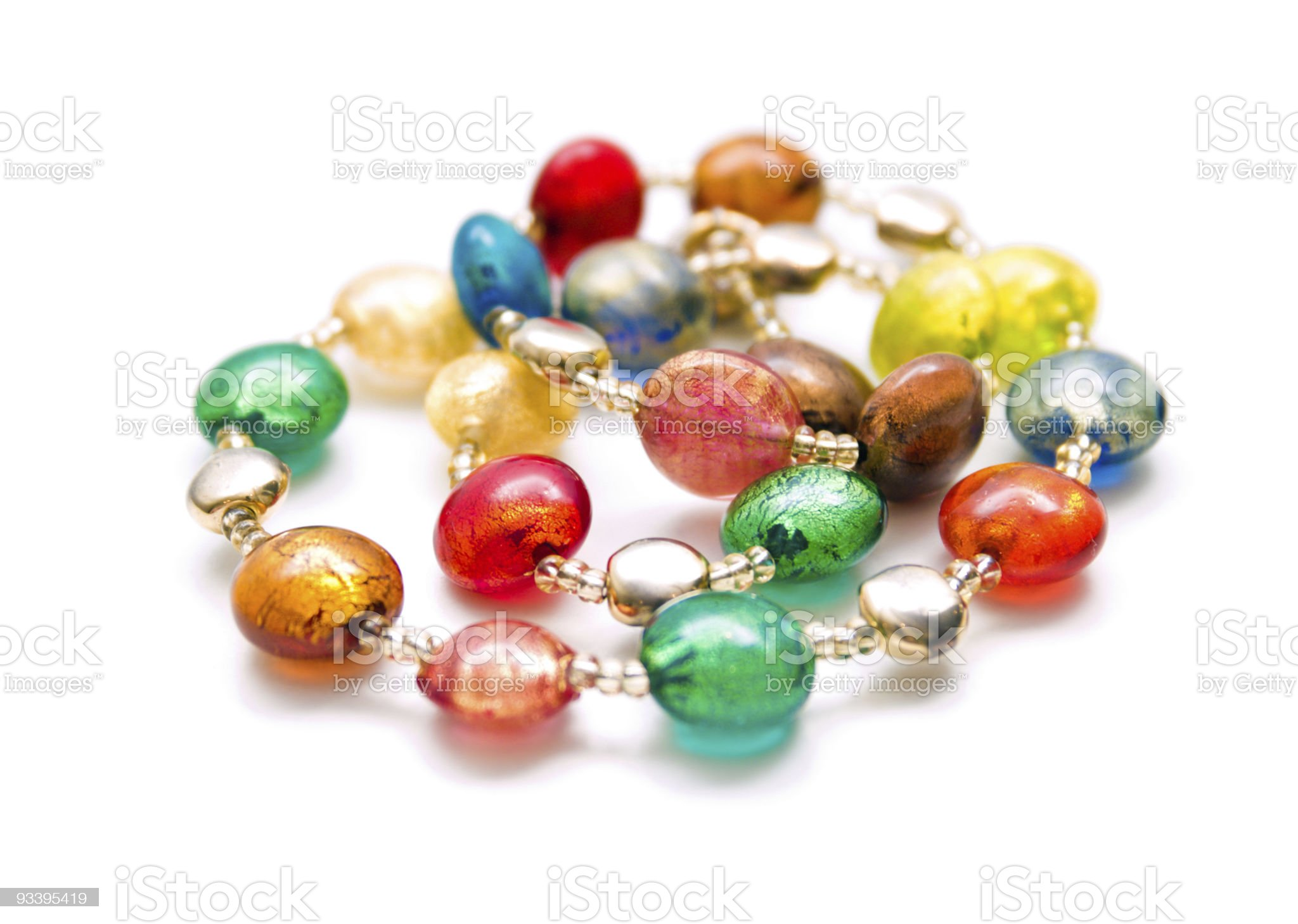 Colorful beads made of Murano glass royalty-free stock photo