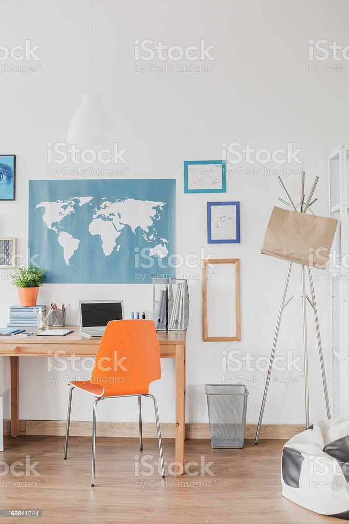 Colorful bedroom for boys stock photo