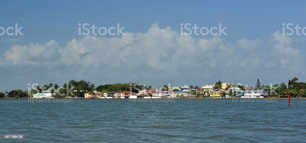 Colorful Belize City, Caribbean royalty-free stock photo