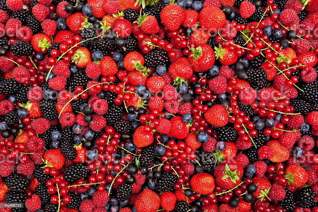 colorful berry mix stock photo