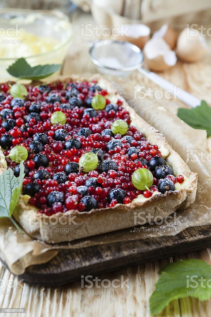 colorful berry pie stock photo