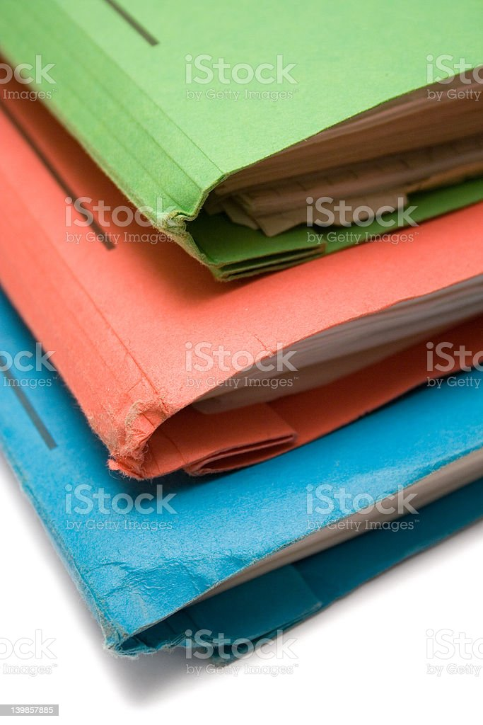Colorful Binders (Top View Close) royalty-free stock photo