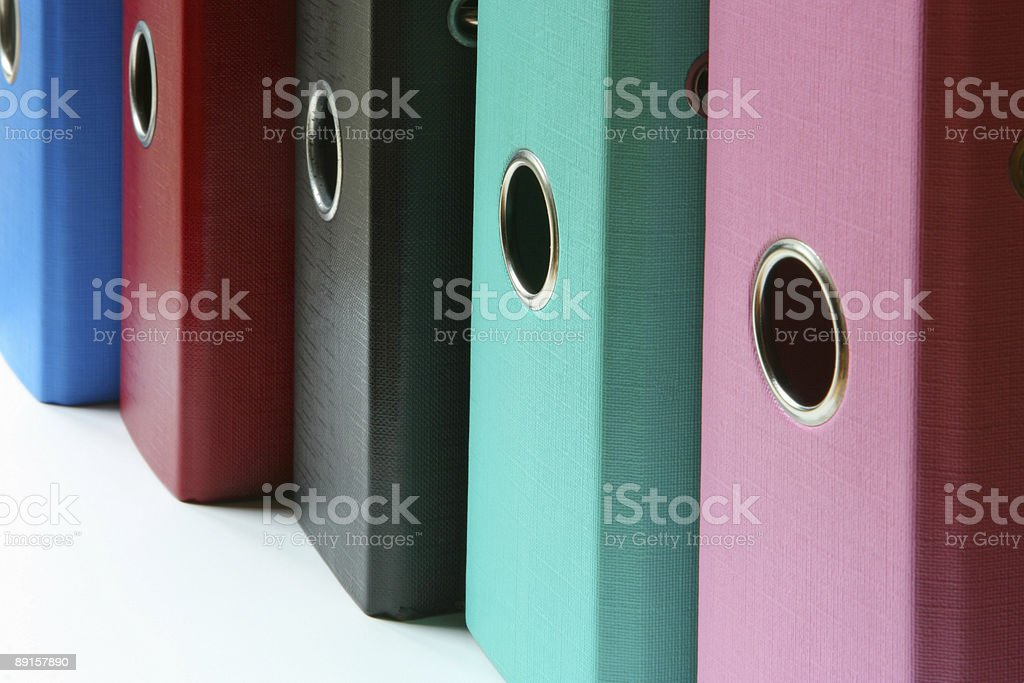 Colorful binders with space for text royalty-free stock photo
