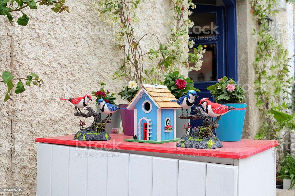 Colorful Birdhouse stock photo