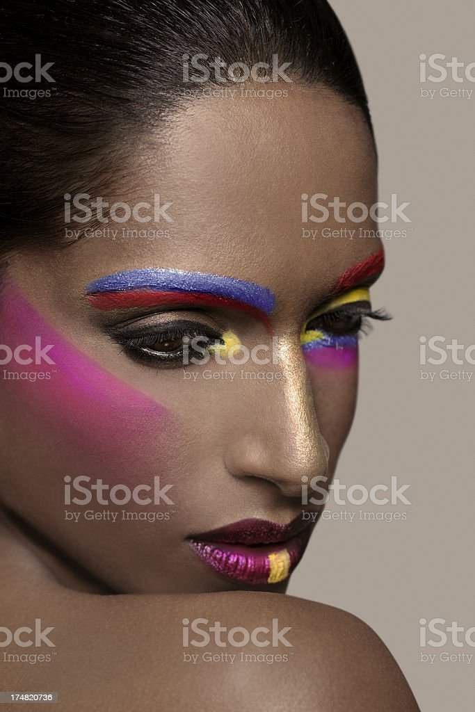 Colorful Black Beauty royalty-free stock photo