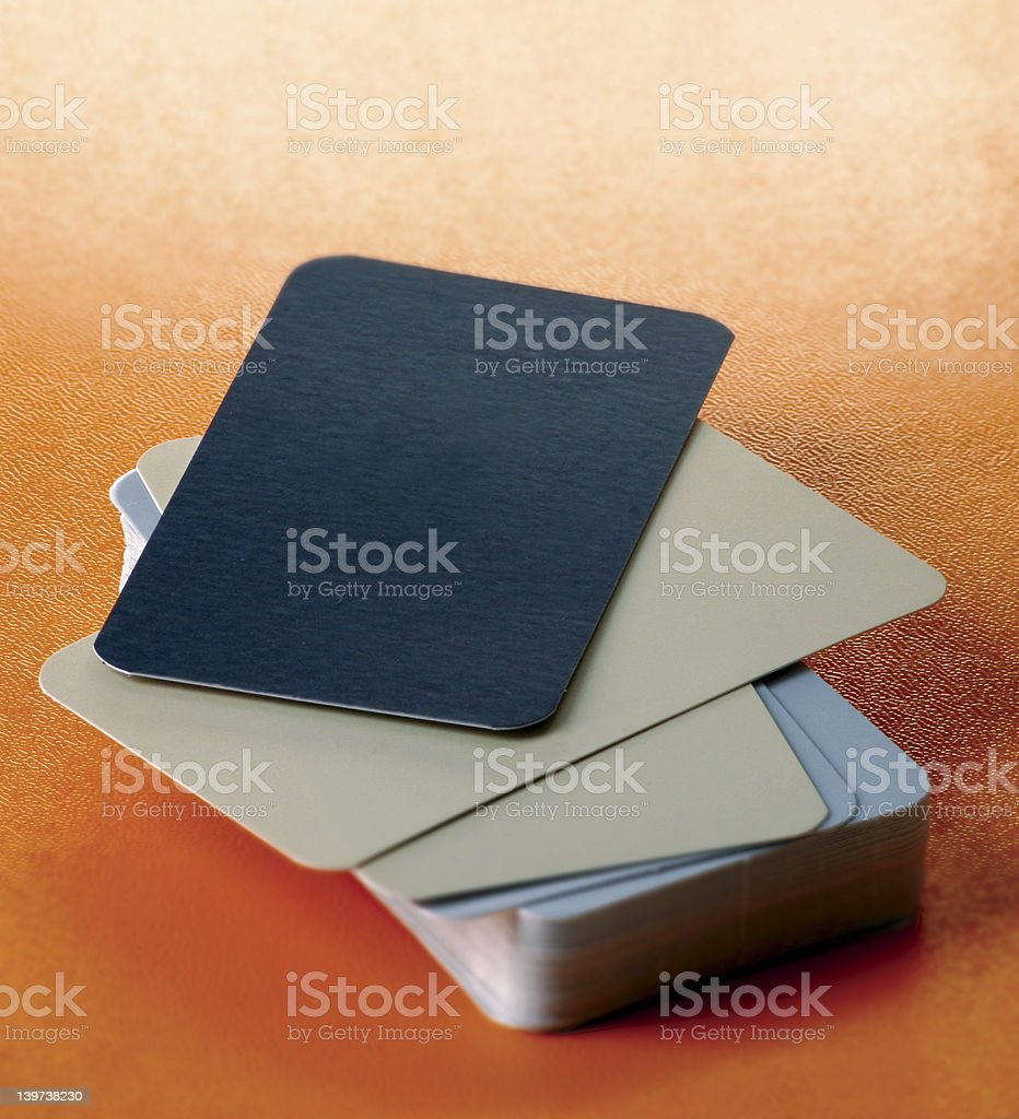 Colorful blank business cards royalty-free stock photo