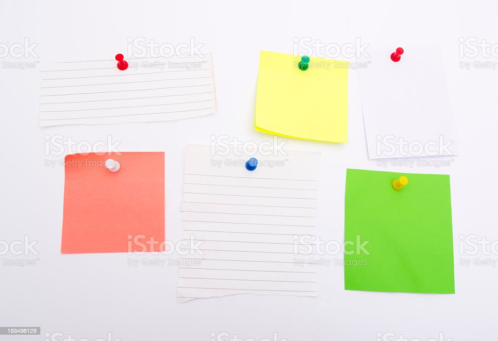 Colorful Blank Notes royalty-free stock photo