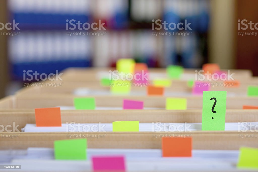 Colorful blank sticky notes - business concept. stock photo