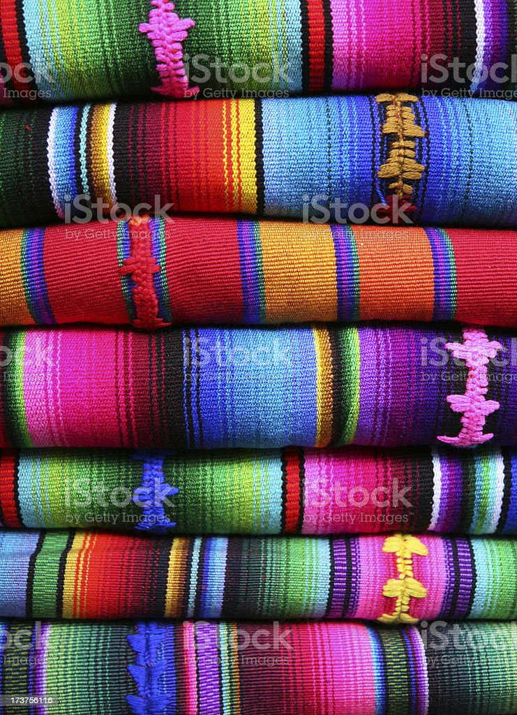 colorful blankets from Latin America stock photo