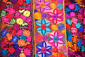 colorful Blankets full of flowers